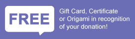 FREE Gift Card, Certificate or Origami